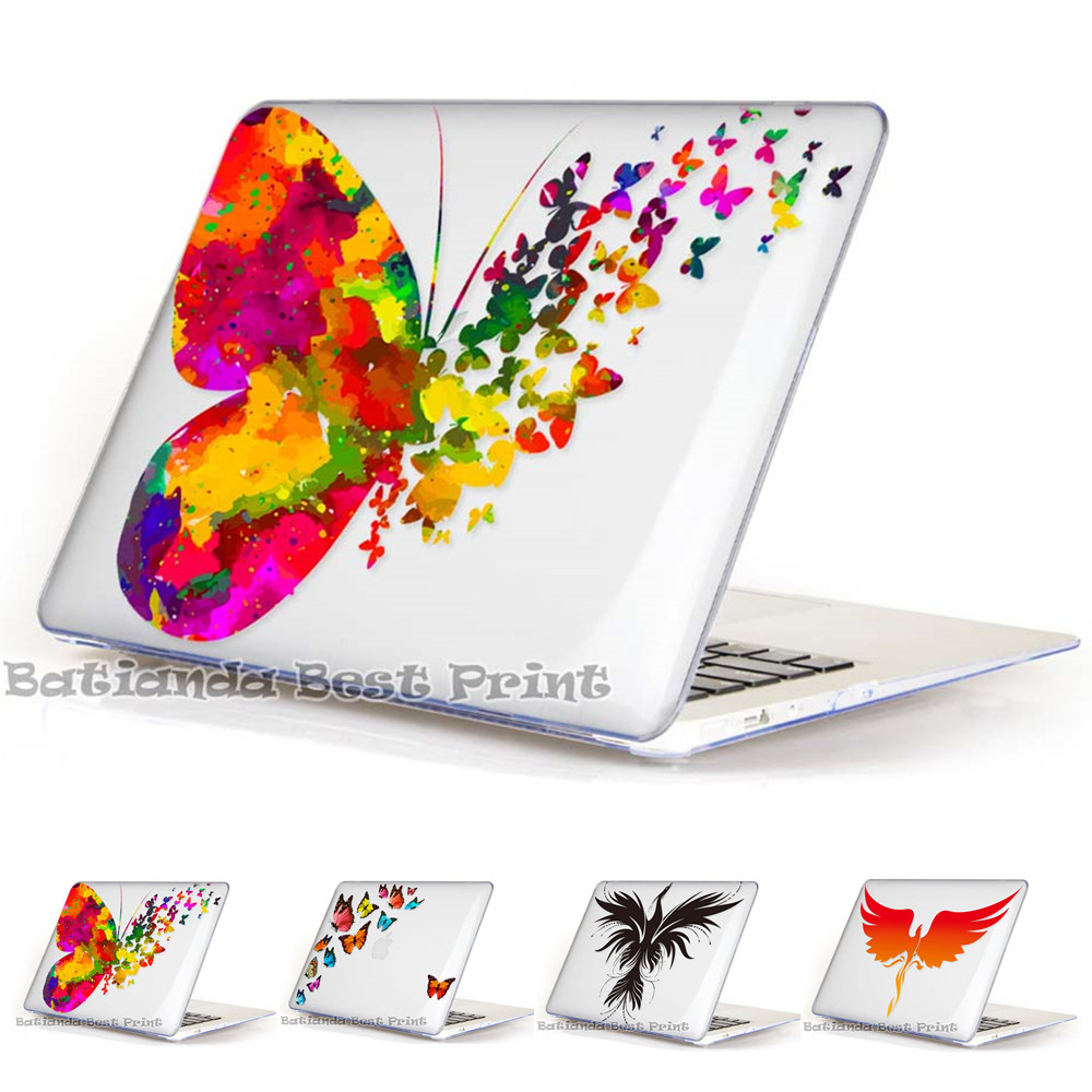 Butterfly Crystal Laptop Bag Print Hard Cover Case For