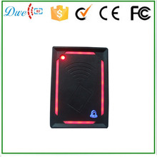 Red light 13.56mhz chip card reader without keypad wiegand access control board reader with door bell
