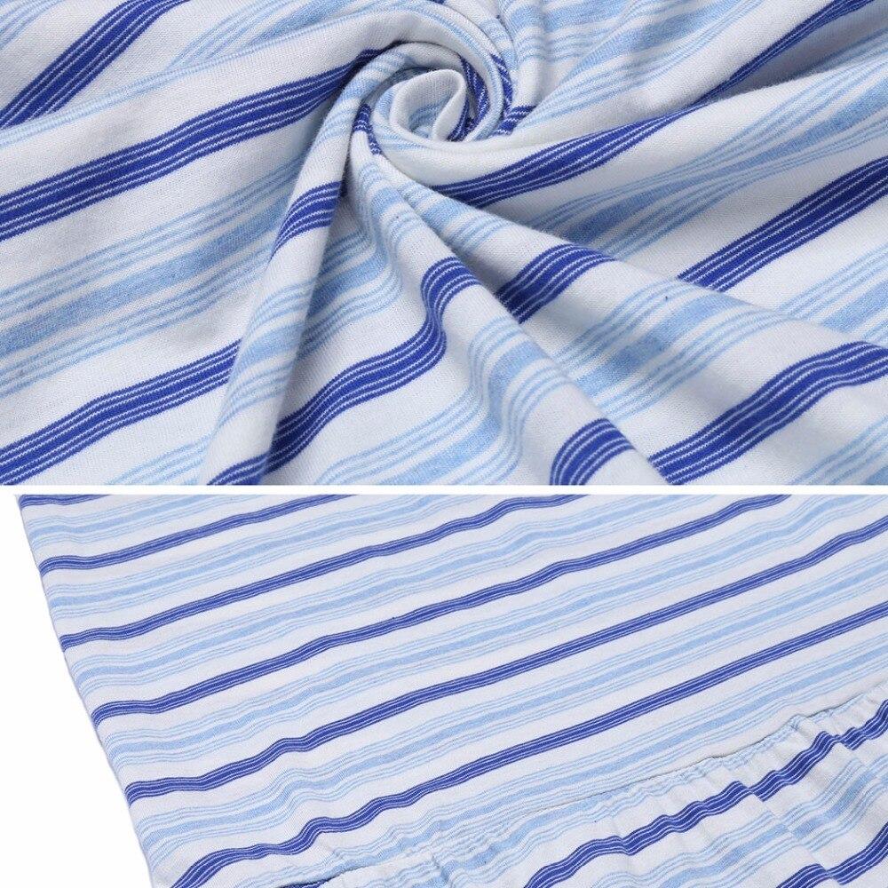 438ee03ba2 Winter Cotton 3 4 Sleeve Striped Women Night Gown Sleepshirt Female Loose  Midi Nightgown Nightwear Shift Sleepwear Night Dress -in Nightgowns    Sleepshirts ...