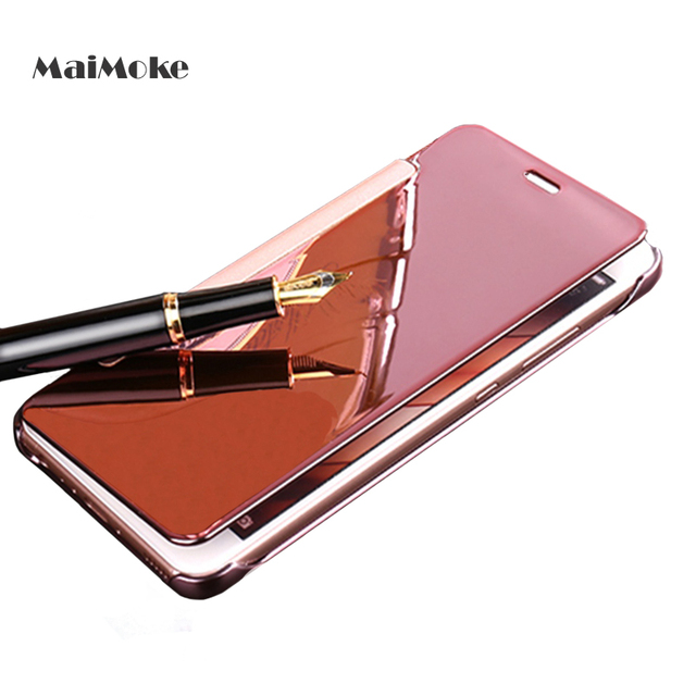 size 40 b93a4 9685f Luxury For Samsung S7 Case Pink Filp Hard Protection For Samsung Galaxy S7  Edge Case Mirror Translucent Hard PC Phone Cover-in Fitted Cases from ...