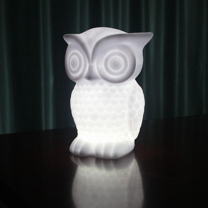 Creative Owl 3d Night Light Led Table Desk Lamp Xmas