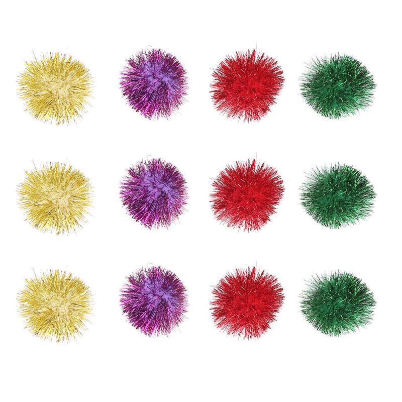 6/12Pcs Cat Toys Multicolor Mylar Crinkle Ball Ring Paper Sound Toy for Cat Kitten Playing Interactive Pet Cat Products Supplies