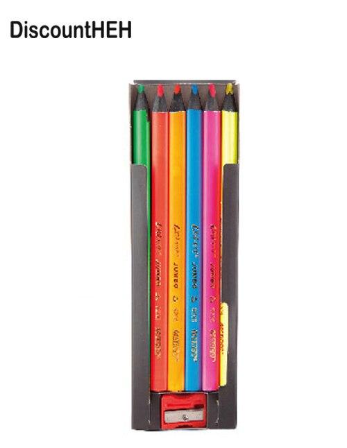 6pcs/lot 6 Color Fluorescent Mark Color Pencil  Slider Mark Pencil Drawing Graffiti Pencil Set