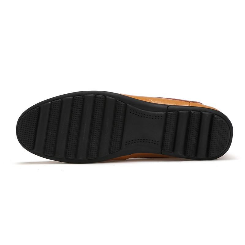 Respirant Cuir Chaussures Confortables Italien Mocassins Ozersk Black Hommes Mens En Brown Brown Véritable Conduite Décontracté Appartements red Creux Mocassin yellow De wpqAzS