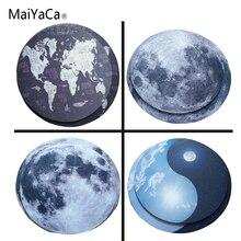 MaiYaCa карта мира маленький размер круглый коврик для мыши Нескользящий Резиновый Коврик