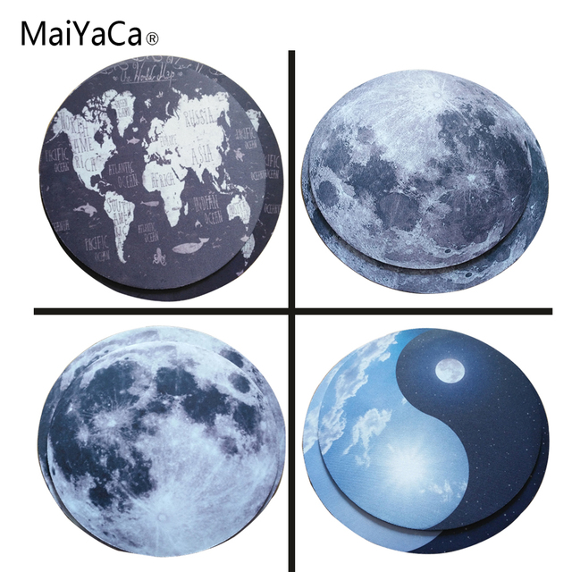 maiyaca the world map new small size round mouse pad non skid rubber