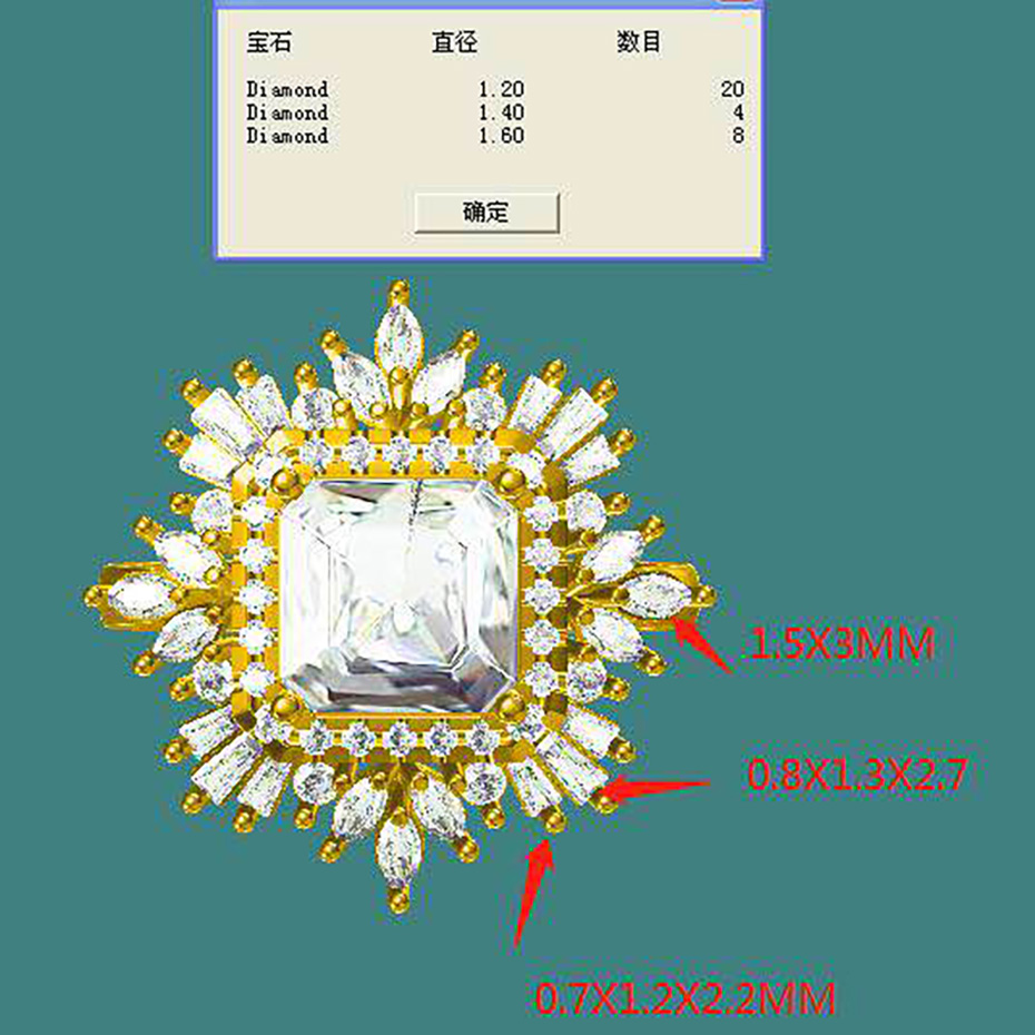 Customize ring Damond K Gold Jewelry