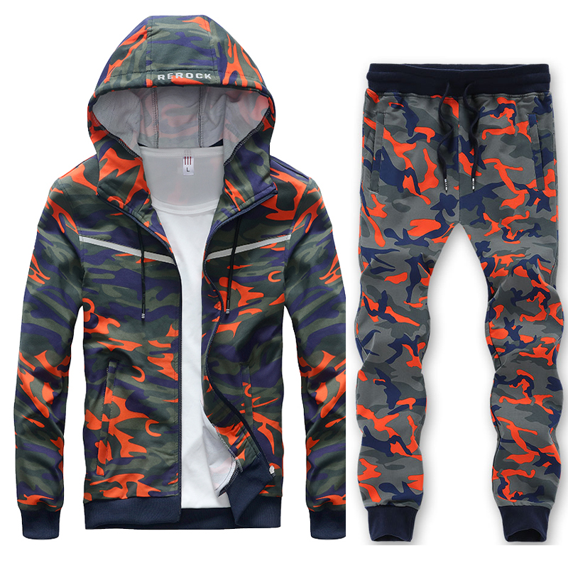 Hoodies Sets Mens Big Size 7XL 8XL Sport Suit Cool Style Hip Hop Camouflage Loose Clothes Men Sportsuit Windproof Running Set цены