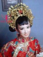 Bruids haar maker kroon haar accessoire klassieke kostuum tang pak cheongsam tonen haar accessoire kleding pratensis