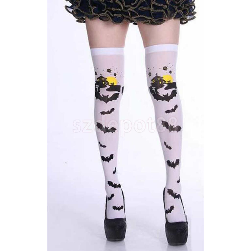 LADIES THIGH HIGH SOCKS HOLD UP STOCKINGS OVER THE KNEE FANCY DRESS