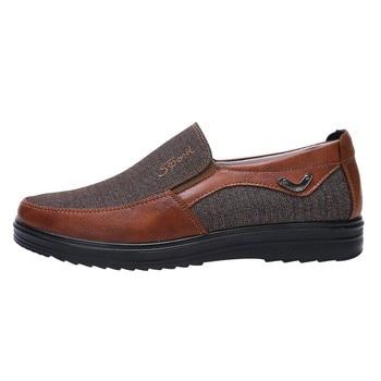 Man Walking Casual Soft Bottom Comfortable Slip Flat Shoes