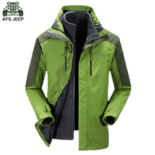 AFS JEEP Brand Rain Waterproof Windproof Outdoor Camping Hiking Clothing Hunting Clothes Jacket Hoodie Thermal Coats Men Fishing