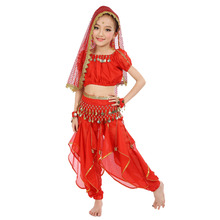 6 colors Belly Dance Costumes Kids New Style Child  Dancing Girls Bollywood Indian Performance Cloth Dress 6pcs/set