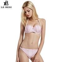 LE BESI 2018 New Women Bikini Set Shell Bandage Swimsuit Underwire Bikini Halter Top Swimwear Brazilian