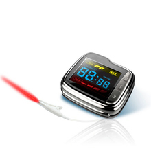 Home Use 650nm LLLT Transcutaneous Laser Blood Irradiation Therapy Wrist Watch цены