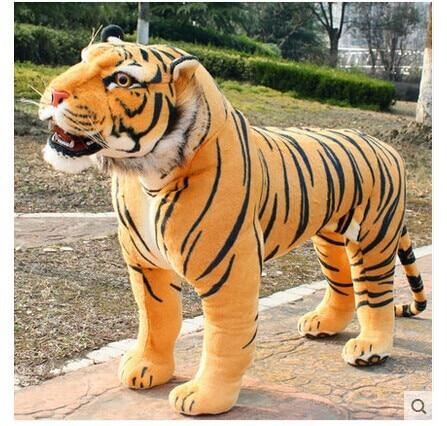 Simulation animal énorme poupée de tigre environ 110x70 cm en peluche cadeau d'anniversaire de haute qualité, cadeau de noël t3442