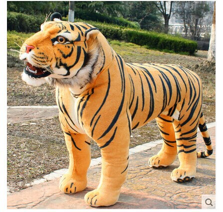 simulation animal huge tiger doll about 110x 70cm plush toy high quality birthday gift, Christmas gift t3442 stuffed animal 110cm plush tiger toy about 43 inch simulation tiger doll great gift free shipping w018