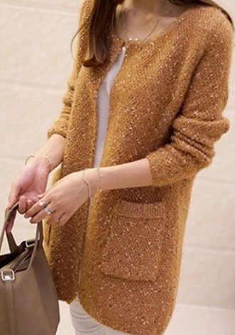 2017 סוודר נשים ארוך קרדיגן קוריאני סגנון טמפרמנט זוגי כיסי סתיו נשים של סוודרים Vestidos MMY16834