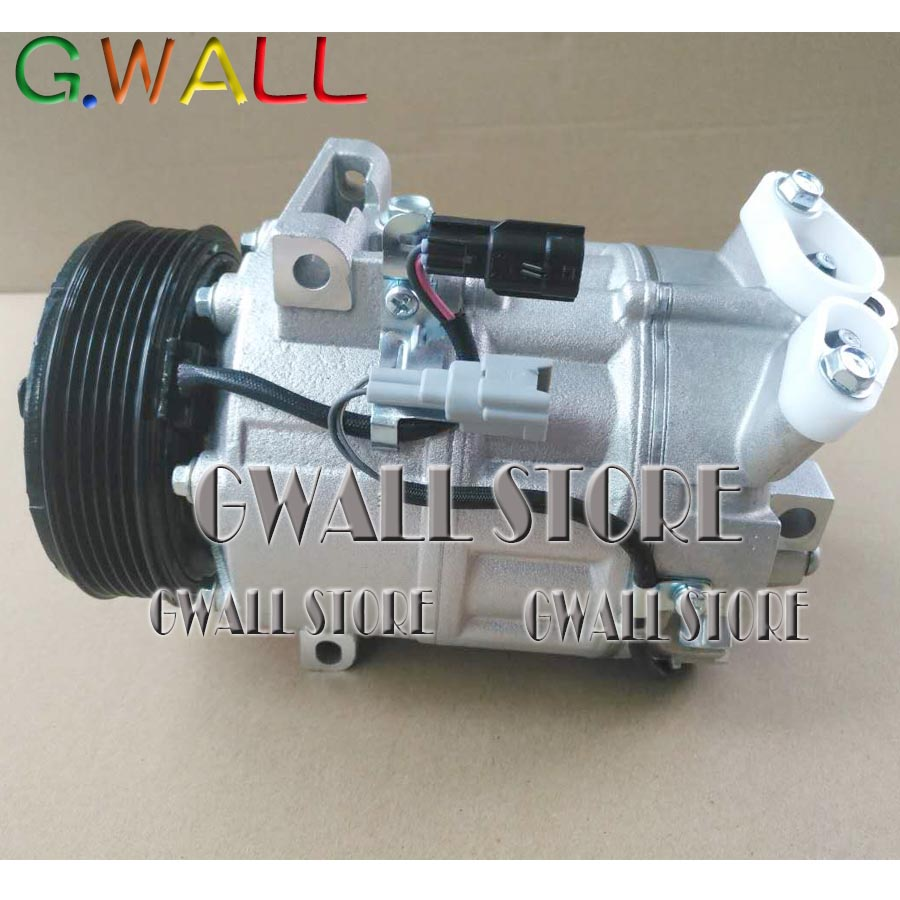 Cr10 6pk Ac Air Conditioning Compressor For Nissan Versa Tiida 16l Evaporator Hyundai Trajet Balakanhg Auto Serena C25 With Clutch