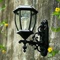 Солнечные светильники  наружная садовая настенная лампа  ретро садовое ландшафтное освещение  алюминиевая водонепроницаемая колода  Автом...