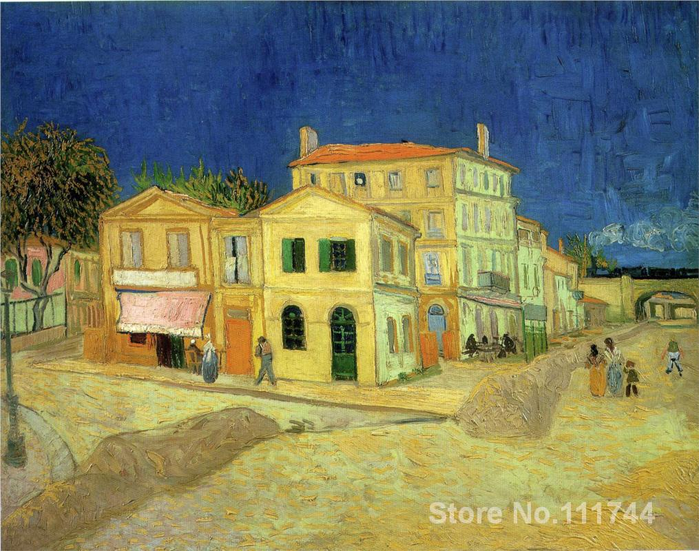 Christmas house painting - Christmas Gift The Yellow House Van Gogh By Vincent Van Gogh Oil Painting Reproduction High Quality