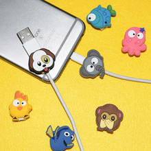 Protector Cable-Winder Samsung Cover-Sleeve Data-Line Animal-Cable iPhone for Huawei