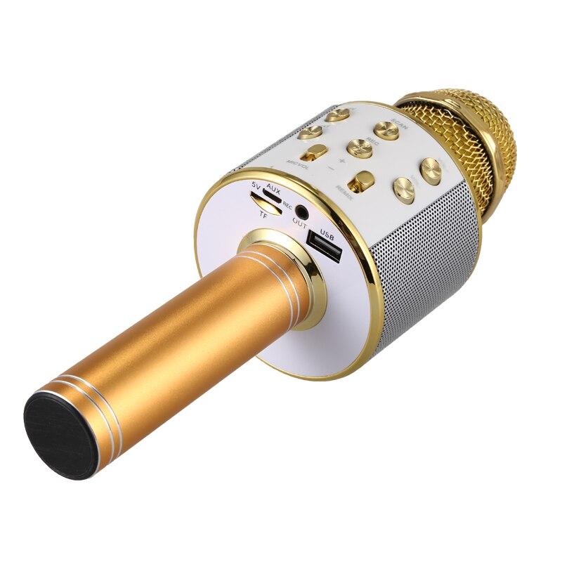 professional bluetooth wireless microphone speaker handheld microphone karaoke mic music player. Black Bedroom Furniture Sets. Home Design Ideas