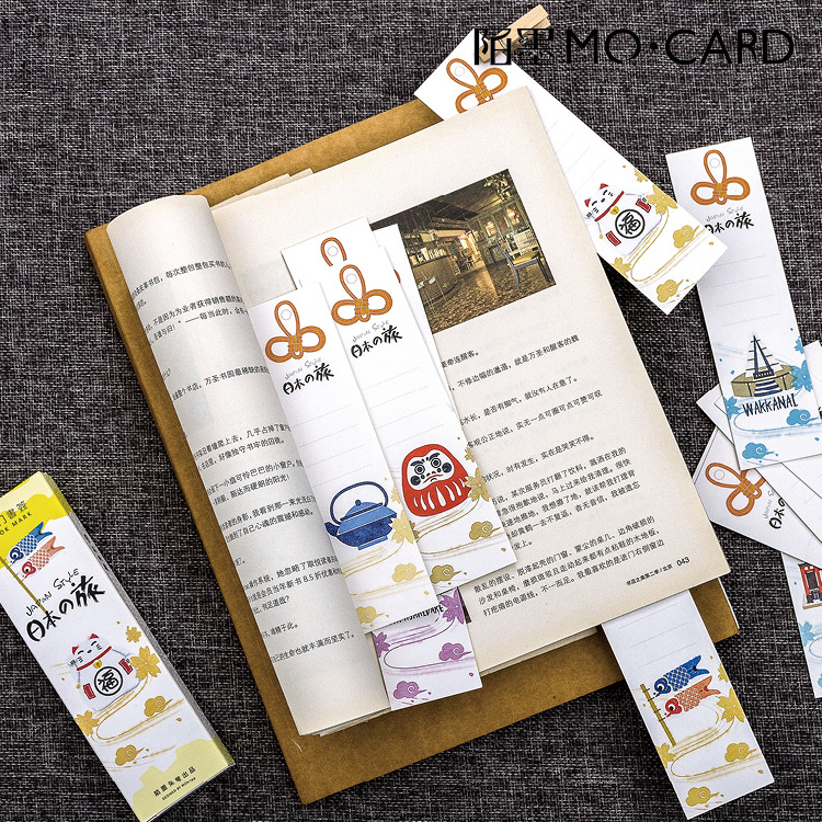 30pcs/pack Travel In Japan Bookmark Paper Bookmarkers Promotional Gift Stationery Film Bookmarks For Books Book Markers