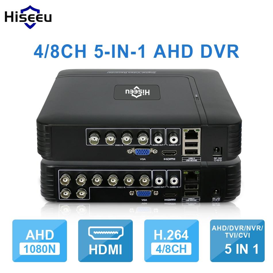 AHD 1080N 4CH 8CH cctv dvr mini 5IN1 para CCTV kit VGA HDMI sistema de seguridad mini NVR para 1080 P cámara IP ONVIF DVR PTZ H.264