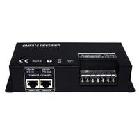 3Ch Dc12 24V Rgbw Dmx 512 Decoder Led Controller Rgb Led Dmx512 Decoder 3 Channelx8A For Led Strip Light|AC/DC Adapters| |  -