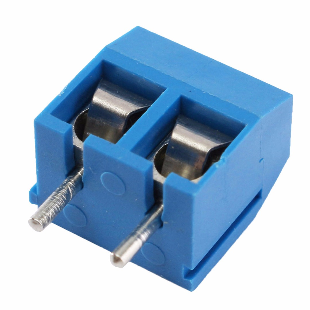 40pcs New Blue 2 Pin Screw Terminal Block Connector 508mm Pitch Pole3positionpanelpcbwiringrotaryswitch2230jpg Panel Pcb Mount For Electric Industry In Terminals From Home Improvement On