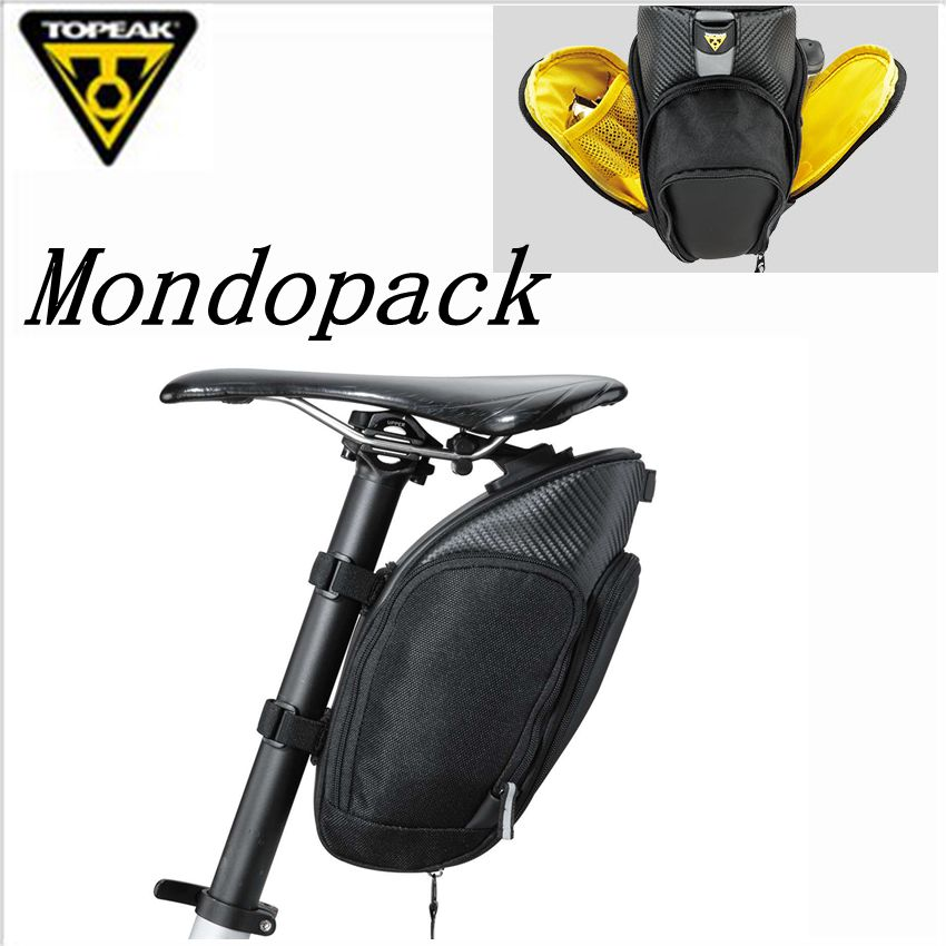 TOPEAK TC2285B 2286B 2287B MondoPack Bike Seatpost Bag Strap Mount Saddle Bicycle Bag with Magic Strap