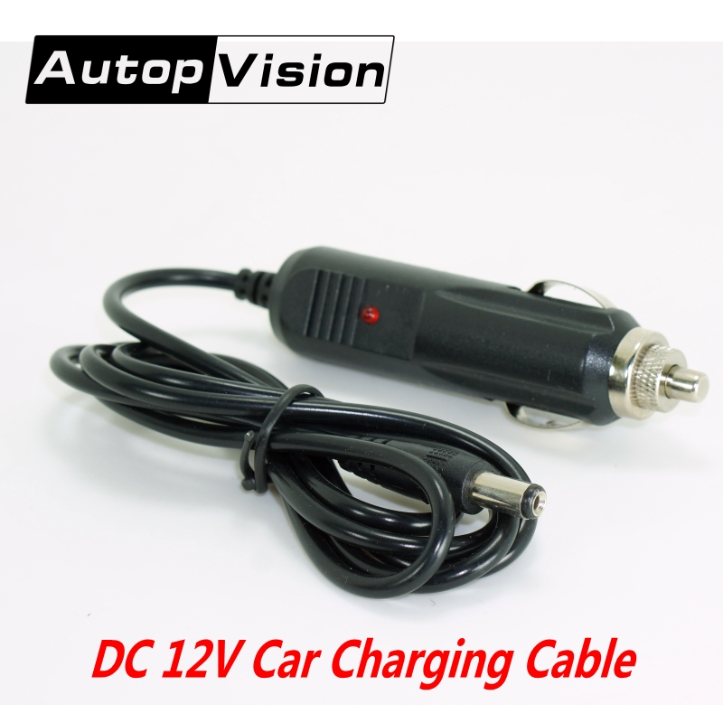 10PCS Free Shipping New DC 12V Car Charger Charging Cable Line 5.5mm Car Charger DC Power Adapter Car Cigarette Lighter