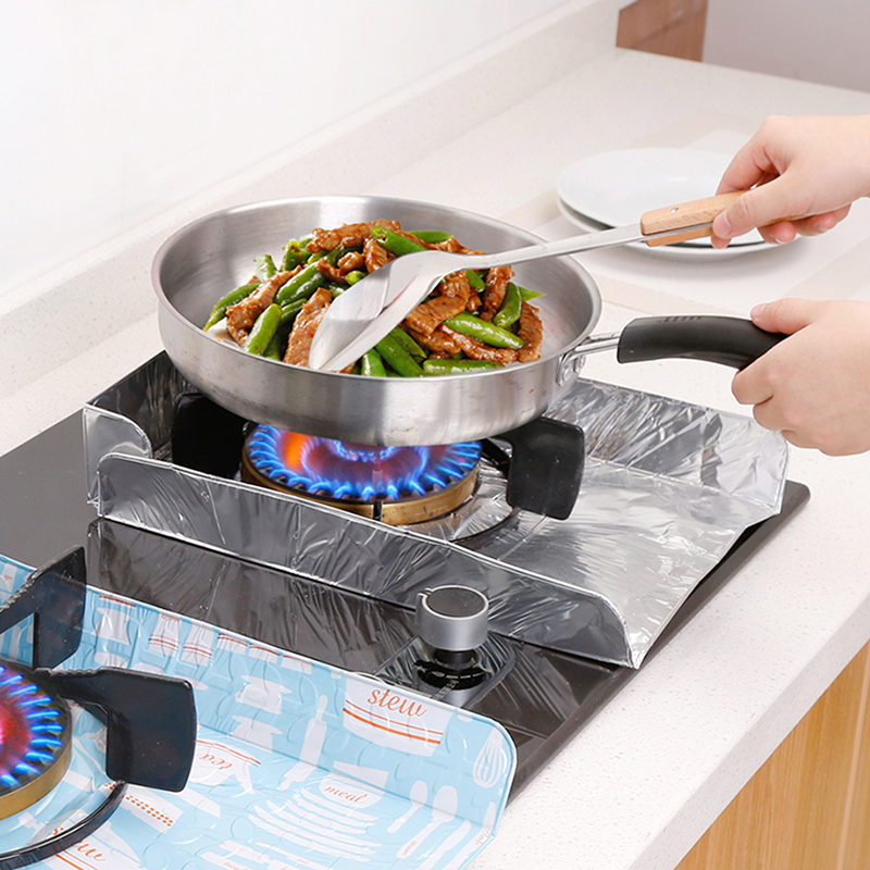 Splatter Shields for Gas Burners, Cover Protection for Pan Frying