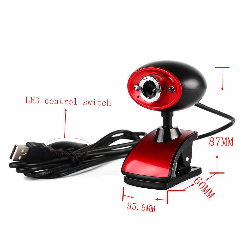 2 светодиодный USB 2,0 HD веб-камера Веб-камера с микрофоном для ПК ноутбука дропшиппинг April01