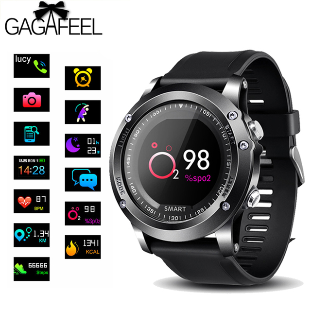 GAGAFEEL T2 IP68 Waterproof Heart Rate Monitor Blood Pressure Oxygen Monitor Sma
