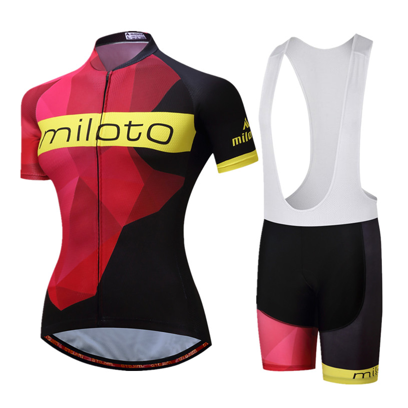 MILOTO Bike Team Womens Racing Cycling Jersey Short Sleeve Bicycle Clothes Summer mtb Bike Jersey Cycling Clothing Ropa Ciclismo