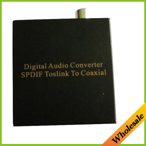New Digital Audio Converter SPDIF Toslink TO Coaxial Adapter Switch with Fibre Optical,Wholesale Free Shipping Dropshipping