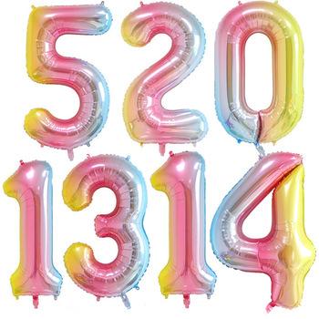Balon w kształcie cyfry 16 32 cala 1 2 3 4 5 liczba cyfr balony z helem folia dziecko dorosły urodziny wesele wystrój zaopatrzenie firm tanie i dobre opinie Numer WJ-29-1 Ślub i Zaręczyny Ballon Folia aluminiowa 1pcs