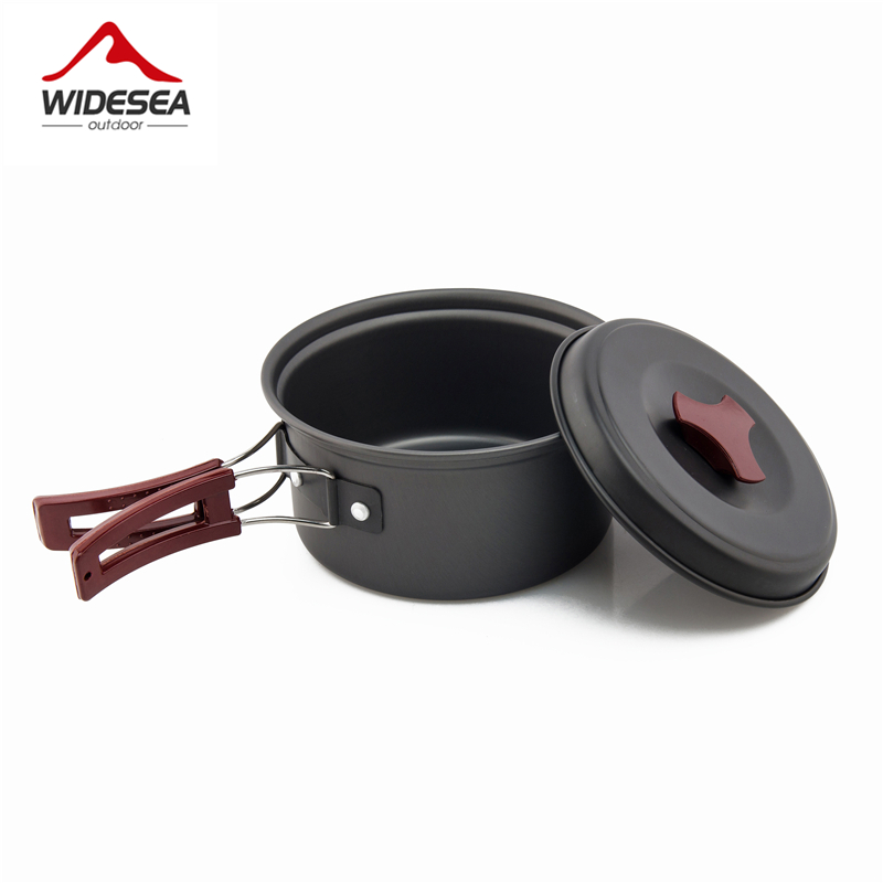 Image 3 - Widesea 1 2 persons camping tableware outdoor cookware picnic set travel tableware  Non stick Pots Pans Bowls hiking utensilspicnic outdoorpicnic bowlpicnic camping -