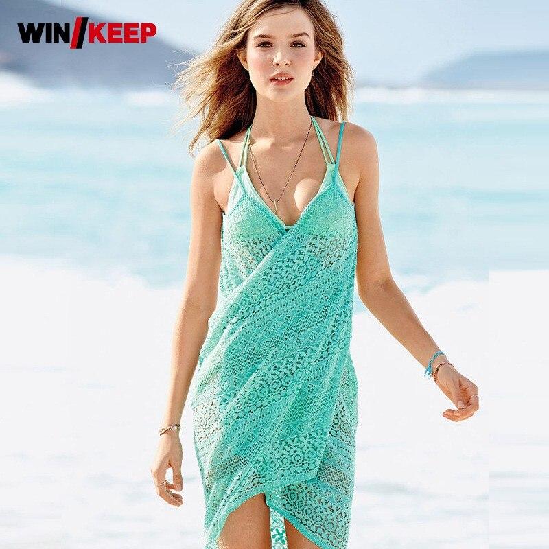 Hot Women Beach Cover Up Lace Chiffon Long Dress Swimwear Dress Crochet See Through Sheer Sexy Women Swimming Pools Bathing Suit