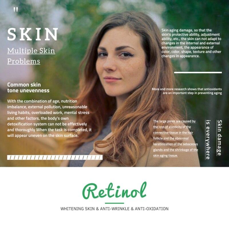Retinol 2 5% 10ml Vitamin C Serum Firming Repair Skin Anti Wrinkle Anti  Acne Anti Aging Serum Skin Care Face Facial Serum