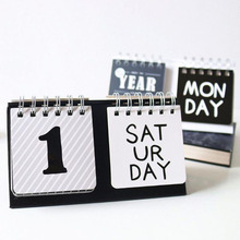 1 Pcs Novelty Black White Simple Printing Perpetual Desk Diy Office Cute Universal Calendar 2019 School Office Supplies