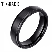 2 pieces Free Shipping Black 100% Titanium Mens Ring Top Quality Engagement Size 4-13