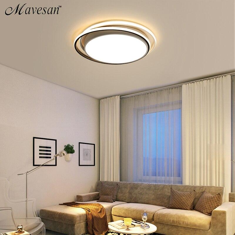 Modern Black White Design Ceiling Light Smart Home LED