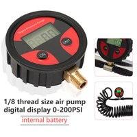 1/8 tamanho da rosca 0-200PSI display digital testador de pressão dos pneus Digital LCD Pneu Pneu Medidor De Pressão De Ar Acessórios Do Carro