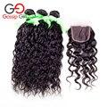 Malasia onda natural del pelo con cierre de malasia pelo de la virgen con el encierro 3 bundles barato armadura del pelo humano con lace closure