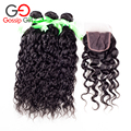 Malaysian Natural Wave Hair With Closure malaysian virgin hair with closure 3 Bundles Cheap Human Hair Weave With Lace Closure