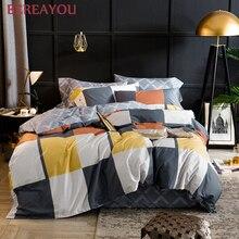 Comforter Bedding Sets 60s long-staple Cotton Bed Set AB Side Duvet Cover Double Sheets Pillowcase Queen King Size 4pcs