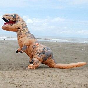 Image 3 - T rex dinosaure aufblasbare kostüm deguisement halloween gießen animaux cosplay maskottchen kostüm dinosaure